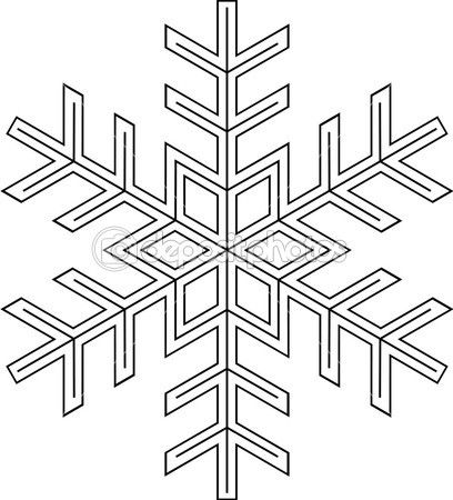 Snowflake Template Stencil For Chocolate Decorations Snowflake
