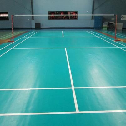 The Boundaries For The Length And Width Of An Official Singles Badminton Court Are 44 Feet By 17 Feet Badminton Badminton Court Sports Vinyl