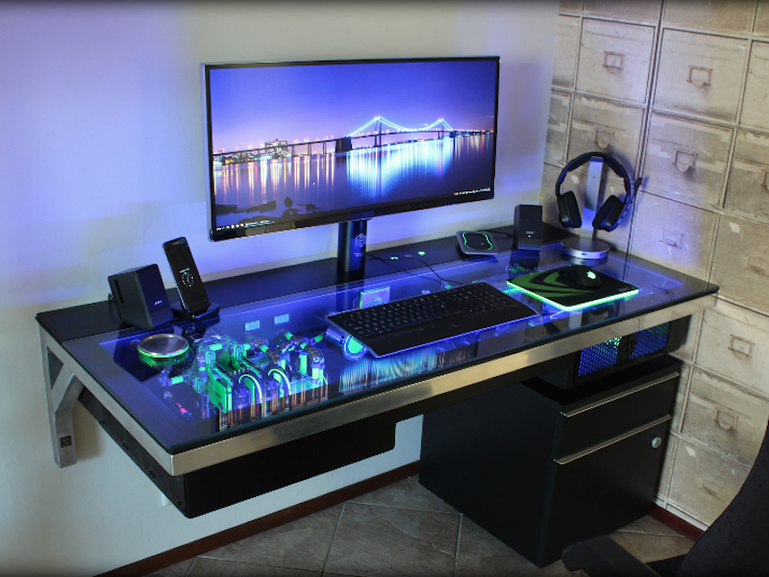 23 diy computer desk ideas that make more spirit work Designer glass computer desk