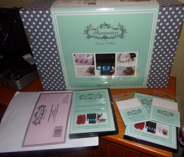 TERESA COLLINs STAMP-MAKER Machine Bundle - EXTrA ACCESSORiES INCLUDeD !! - Rare item by BarbsHandiworks on Etsy