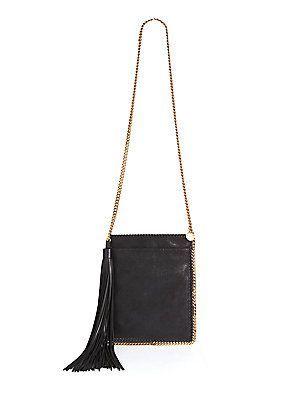 6633406d779 Stella McCartney Falabella Shimmer Faux Suede Tassel Crossbody Bag ...