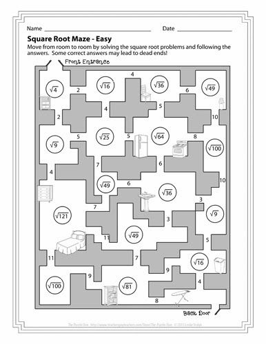 Free Square Root Mazes - three levels of solving fun, from easy to - square root chart template