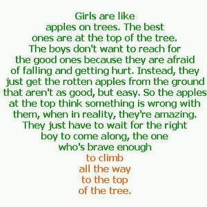 Girls are like apples......