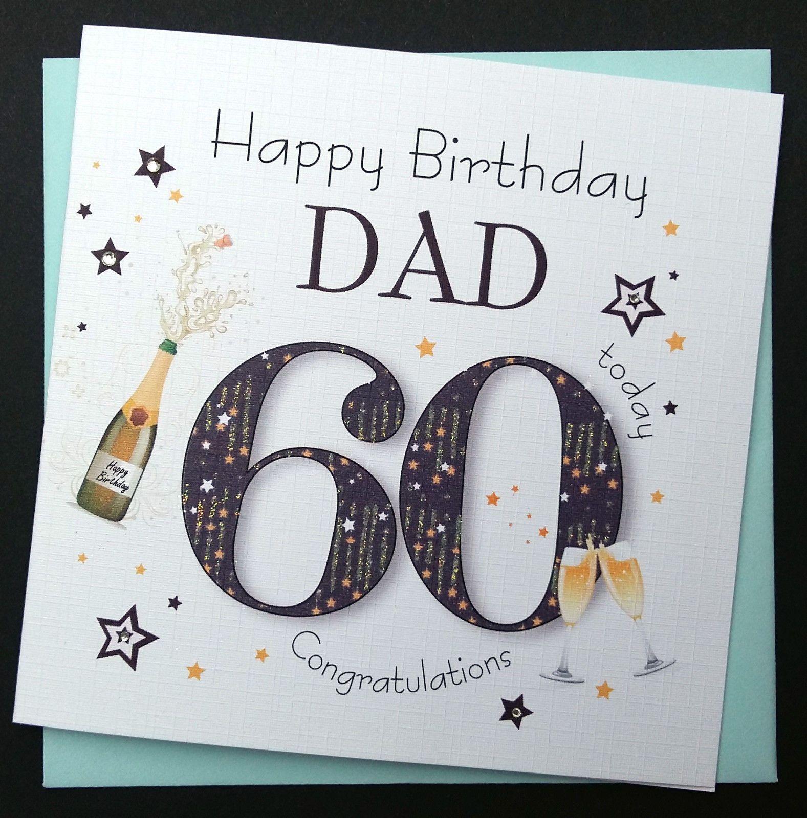 Handmade birthday card dad grandad uncle etc 30th 40th 50th 60th