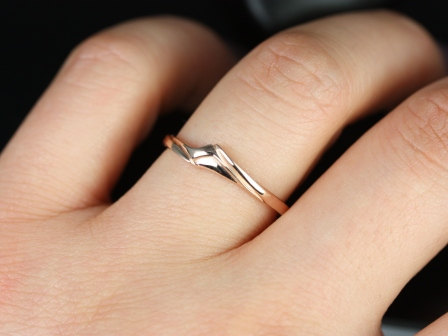 14kt Rose Gold Matching Band To Souffle No Diamond By Rosadosbox