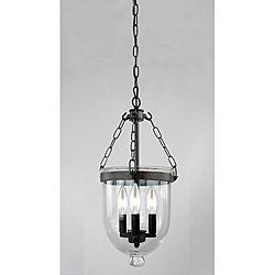 Antique Copper Finish Gl Lantern Chandelier