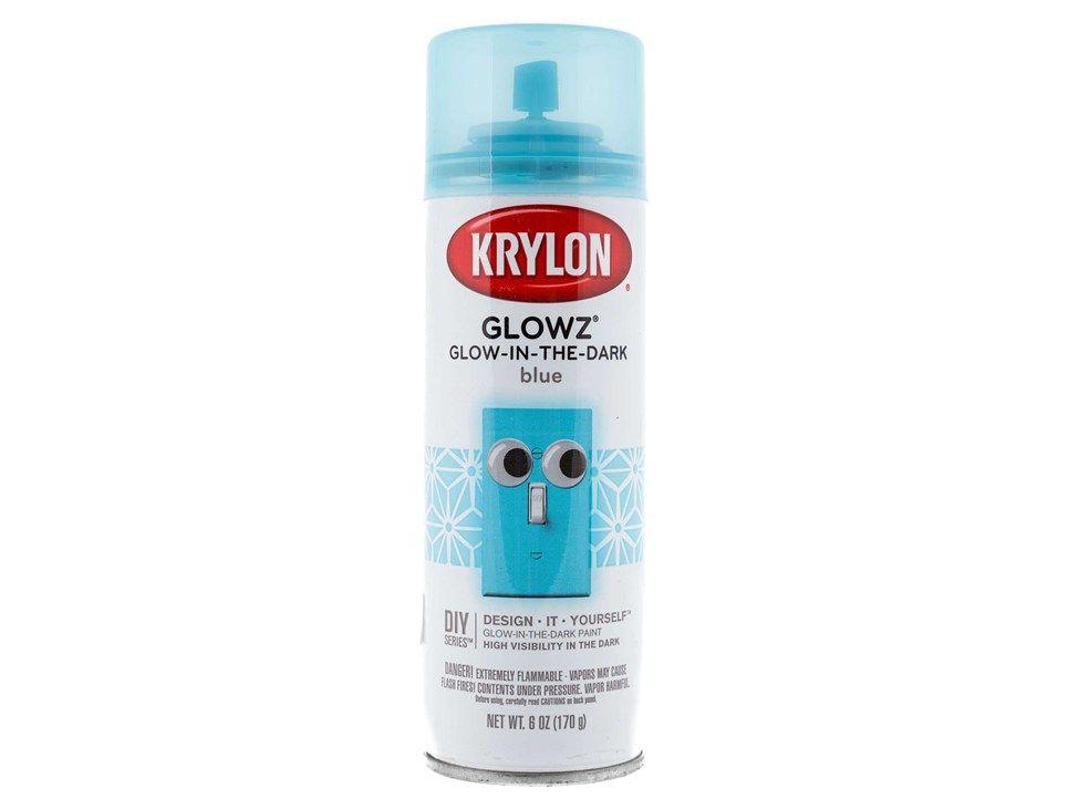 6 Ounce Blue Glow In The Dark Spray Paint Shop Hobby Lobby Krylon Spray Paint Paint Shop