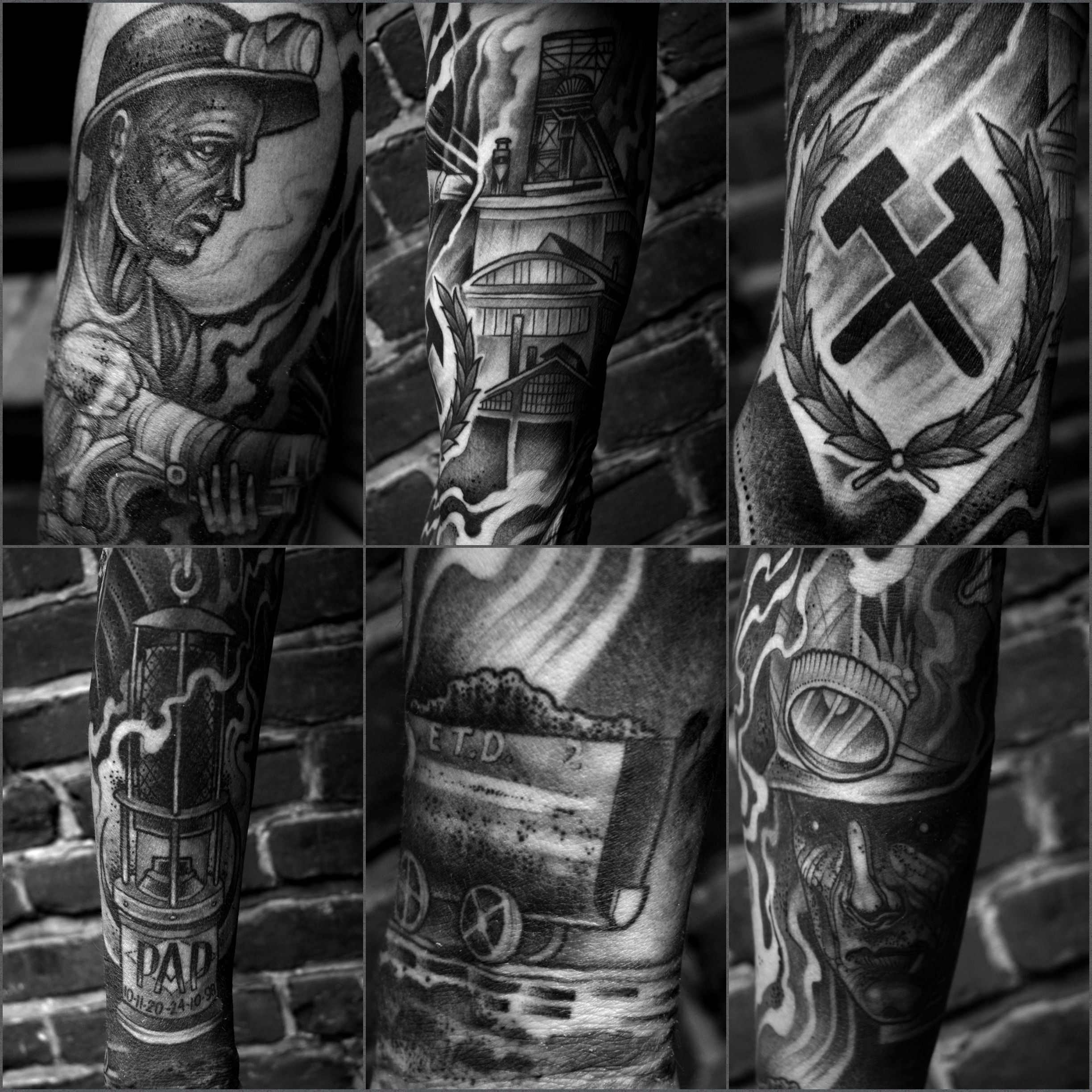 This Is My Tattoo Sleeve To Honor My Dad He Was A Miner For More Than 30 Years This Is My Tattoo Sleeve To Honor My Sleeve Tattoos Hero Tattoo Tattoos
