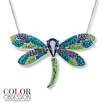 5d48e1423 Kay.com - Dragonfly Necklace SWAROVSKI ELEMENTS Sterling Silver ...