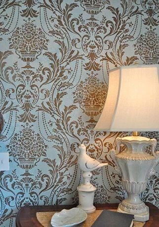 Anastasia Damask Stencil - Better Than Wallpaper! - DIY Home Décor