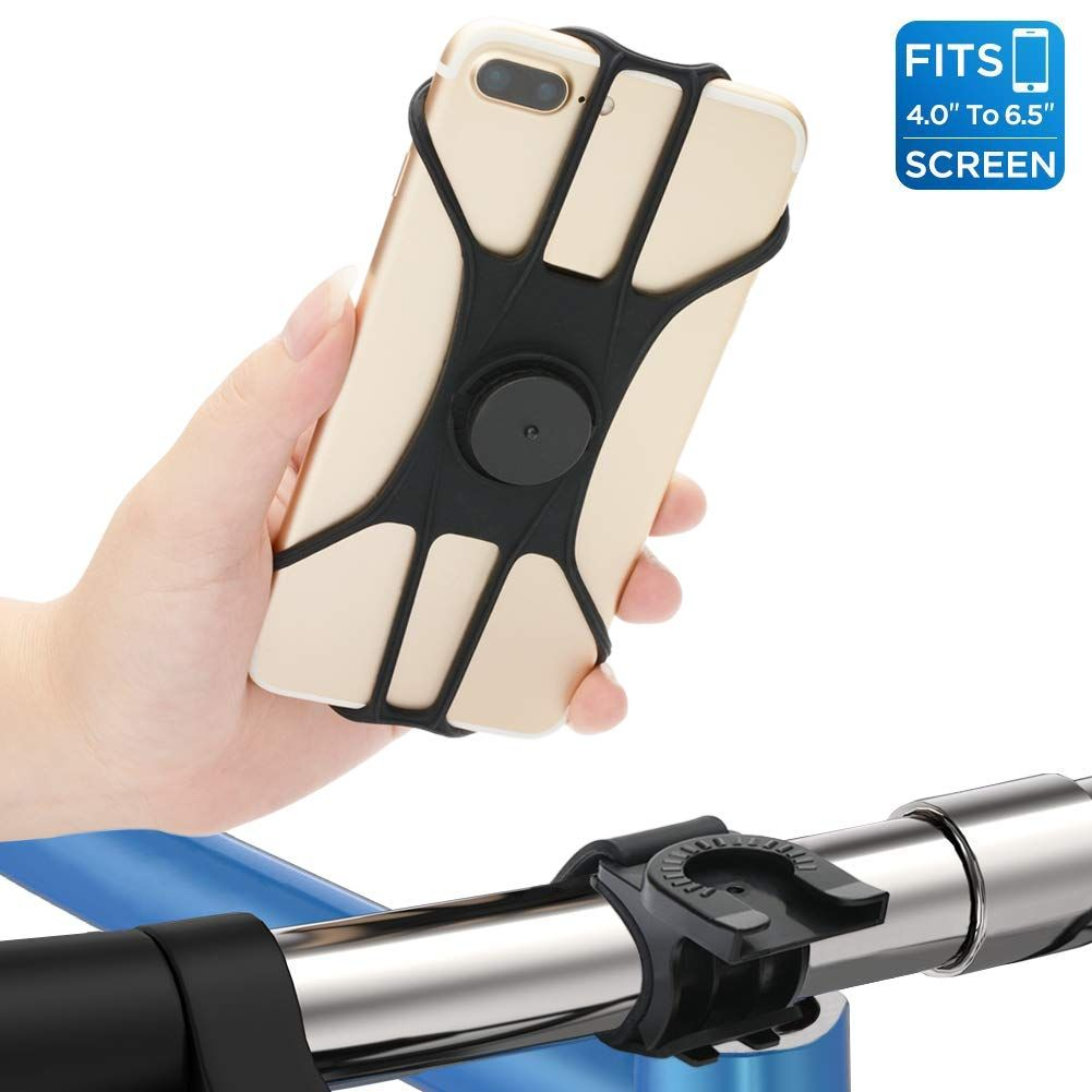 Universal Bike Holder Handlebars,360 /°Rotatable Adjustable Silicone Bicycle Phone Holder for Cycling GPS//Map////Music,Compatible with iPhone Xs MAX//X 4.5-6.5 Phones Marrrch Bike Phone Mount