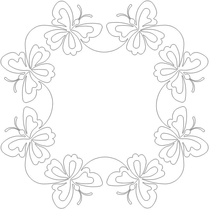 Jubilee butterfly frame block tikkausmalleja pinterest