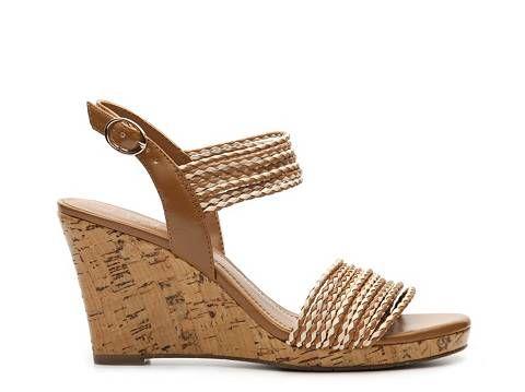 cb9150351c4 BCBG Paris Loran Wedge Sandal Womens Wedge Sandals Sandals Womens Shoes -  DSW