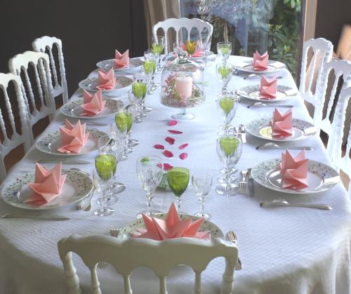 La table de communion de laurence mesa bella blog decor idees table table communion et - Deco de table communion fille ...