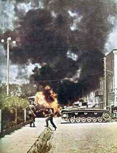 Panzer III, street fighting by GLORY. The largest archive of german WWII images, via Flickr, pin by Paolo Marzioli