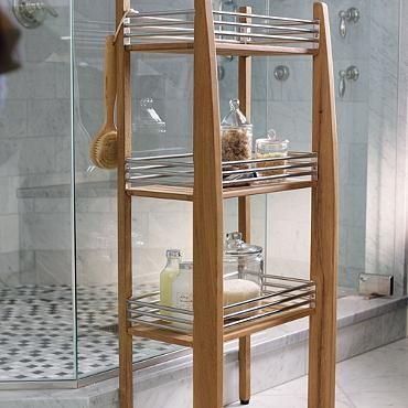 Three Tier Teak Shower Shelf Teak Shower