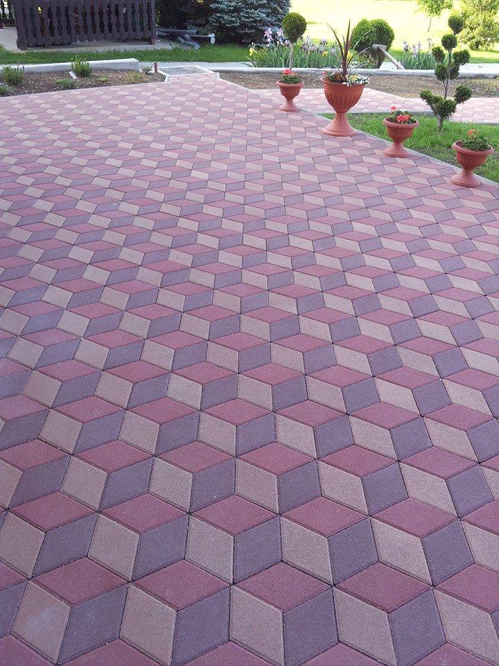 Paving Blocks Romb 3d 3d Efect In 2019 Paving Design