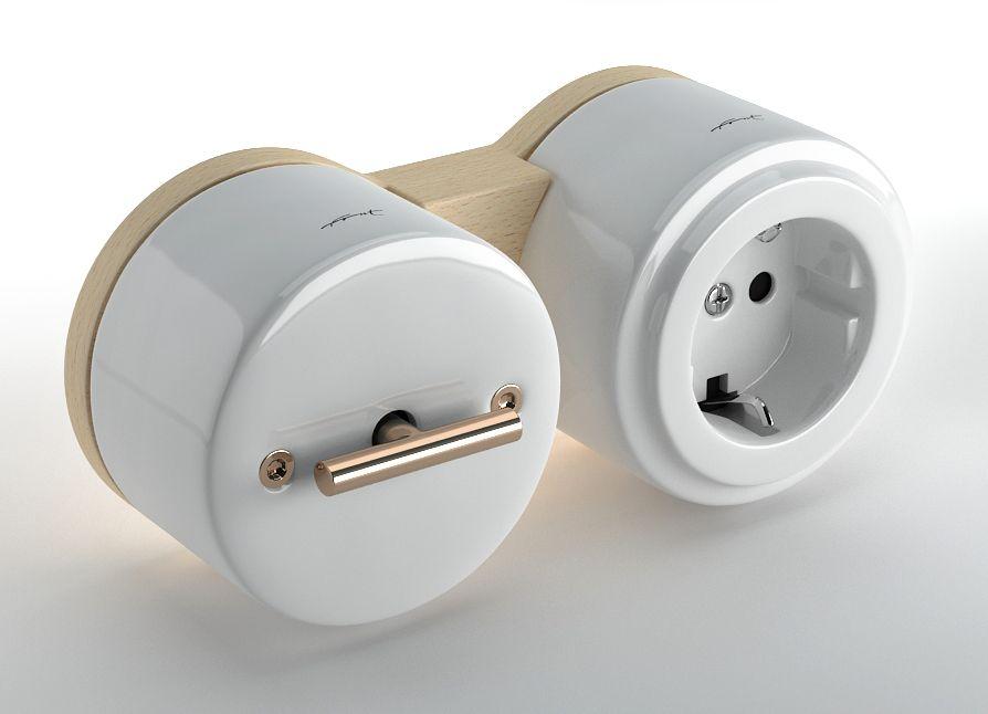 les interrupteurs d co vintage en porcelaine de limoges. Black Bedroom Furniture Sets. Home Design Ideas