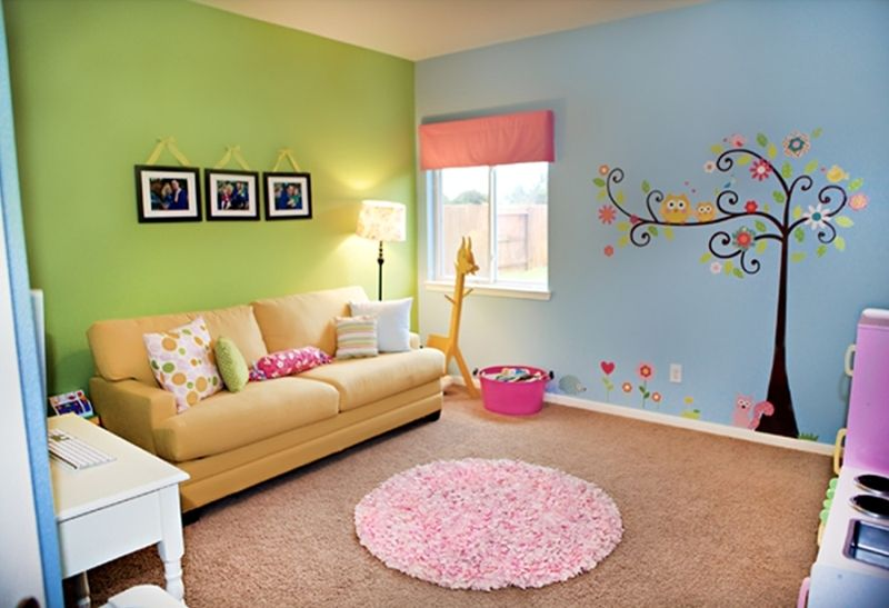 Colorful Play Room Perfect Kid S Playroom Design With Splashes Of Color Kidsomania Playroom Color Scheme Playroom Paint Playroom Paint Colors