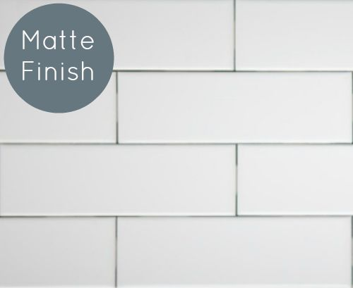 Clearance Metro Subway Tile Matte White 2 X 8 Ceramic Wall Tile 3 29 Per Square Foot Matte Subway Tile Backsplash Ceramic Wall Tiles Subway Tile