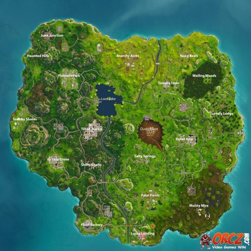 Fortnite Battle Royale Map Orcz Com The Video Games