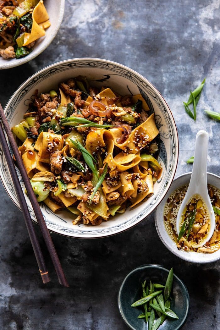Better Than Takeout Szechuan Noodles with Sesame Chili oil images