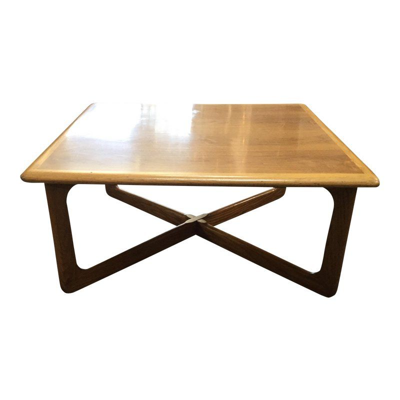 1960s Mid Century Modern Lane Square Coffee Table Midcentury