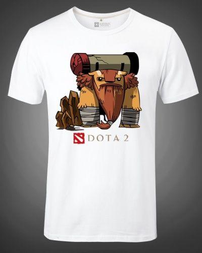 Dota 2 hero Earthshaker t shirt XXXL short sleeve tee