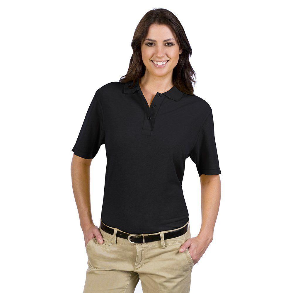 OTTO Ladies' 5.6 oz. Pique Knit Sport Shirts Black (3XL): 65% Polyester 35% Cotton Comfy Blend COMFORT YOU… #WomensClothing #LadiesClothes