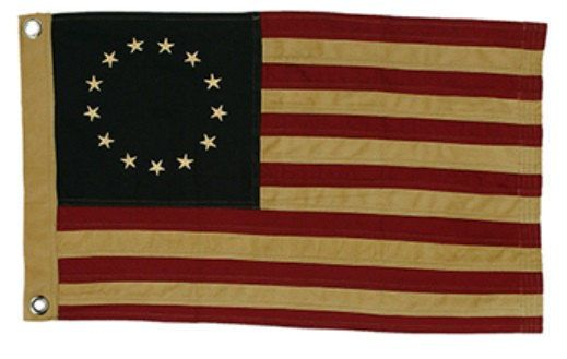 New Country Primitive Aged Tea Stained Betsy Ross Tea Stained American Flag Betsy Ross Flag Country Primitive American Flag