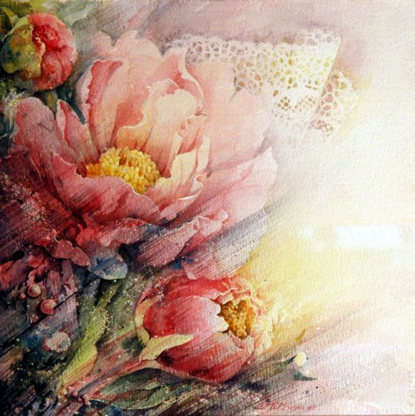 Floral Paintings By Marie Claire Moudru Floral Watercolor