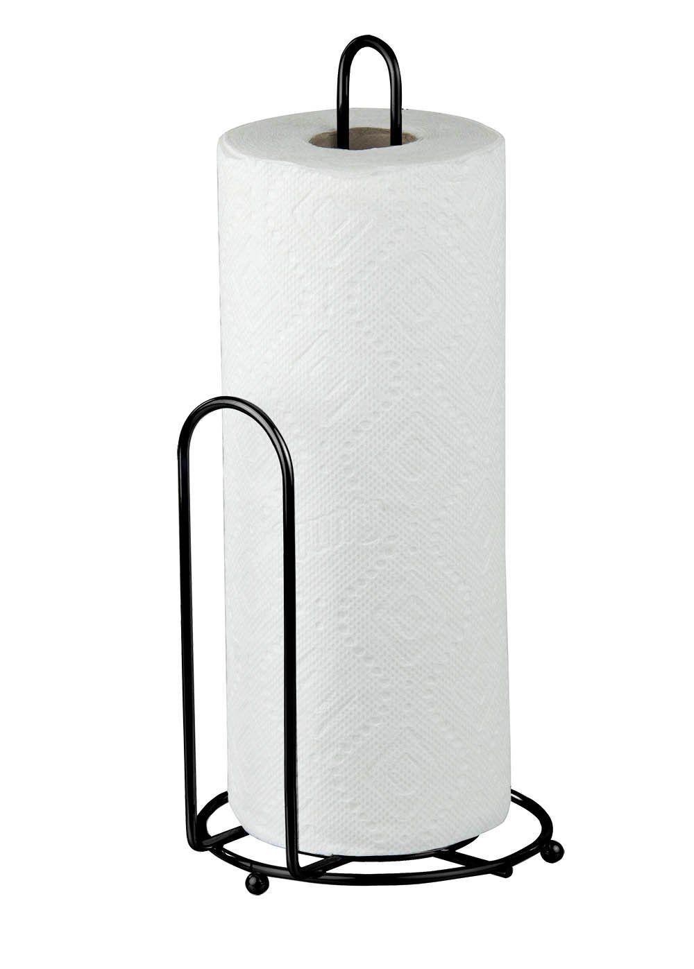 Home Basics Black Paper Towel Holder Black Finish Wire 6 Inch By 13 5 Inch Paper Towel Holder Towel Holder