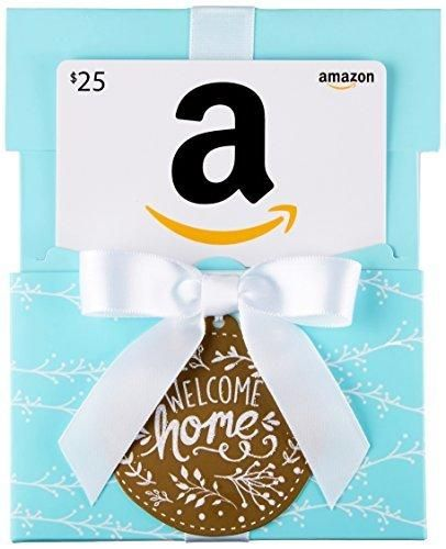 Amazon Com 25 Gift Card In A Welcome Home Reveal Classic White
