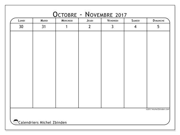 calendrier novembre 2017 90ld calendriers imprimer. Black Bedroom Furniture Sets. Home Design Ideas
