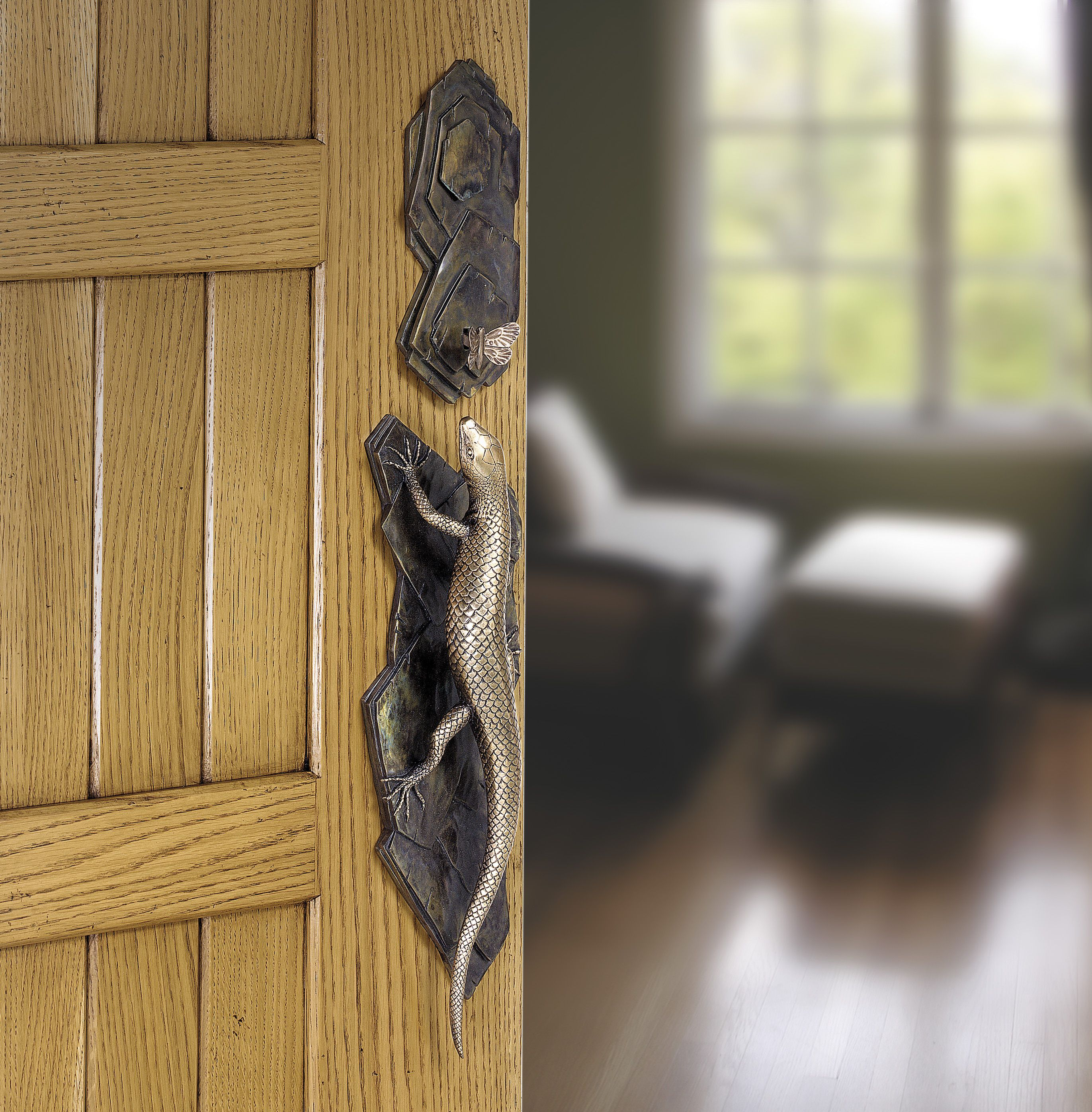 Lizard and Butterfly Door Handle | Locks, Latches, Handles, Knockers ...