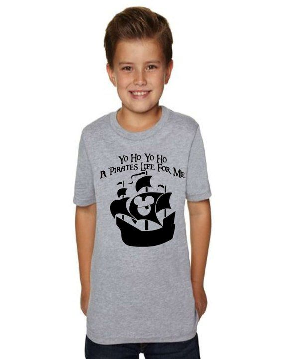 f6905a64c CLEARANCE EVENT Boy's Disney Shirt Yo Ho Yo Ho A Pirate's Life for Me  Pirates of the Caribbean Shirt