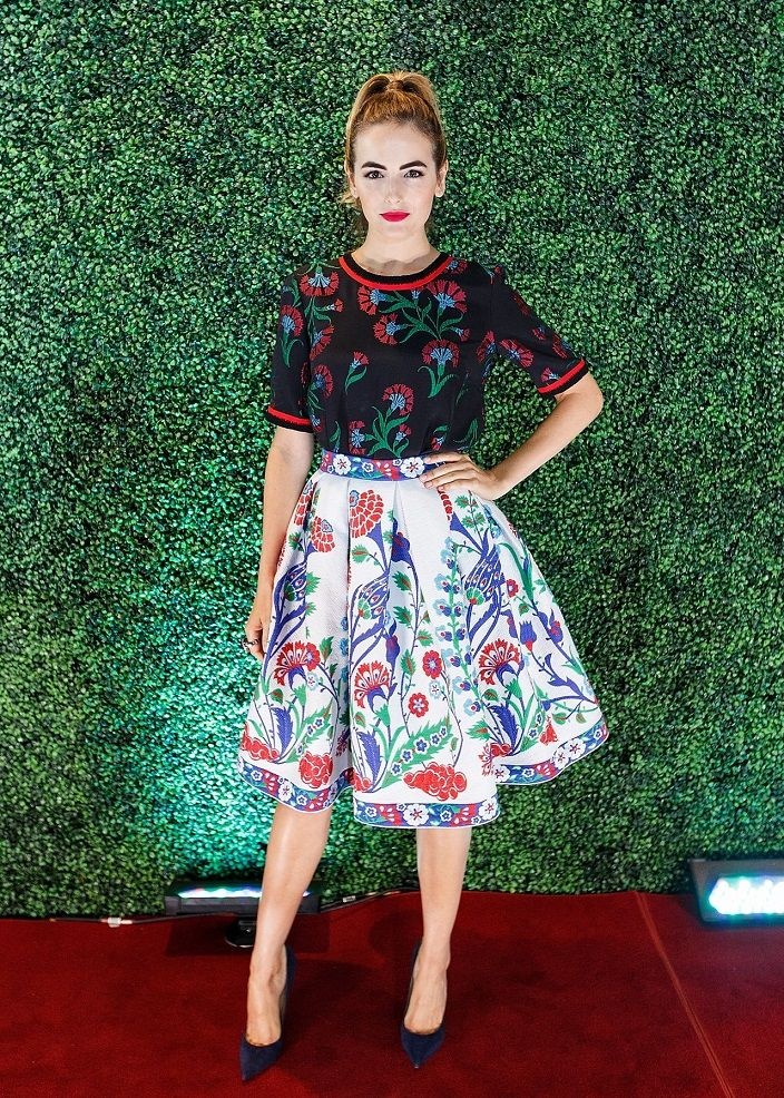 Camilla Belle in Andrew Gn at the 2015 THR Women in