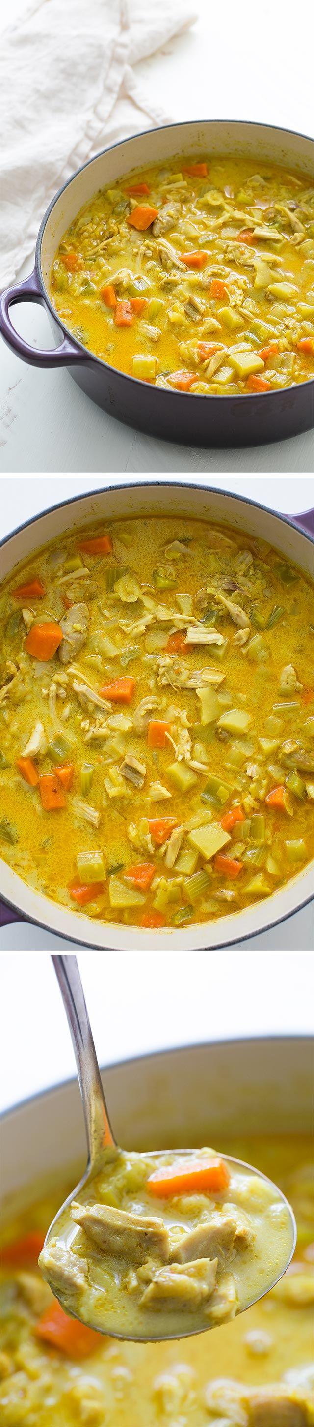Chicken Mulligatawny Soup #mulligatawnysoup