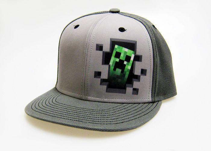 Minecraft Creeper Inside Grey Snapback Baseball Hat  cap  gamer  fashion   peekaboo e55ebdeb1e