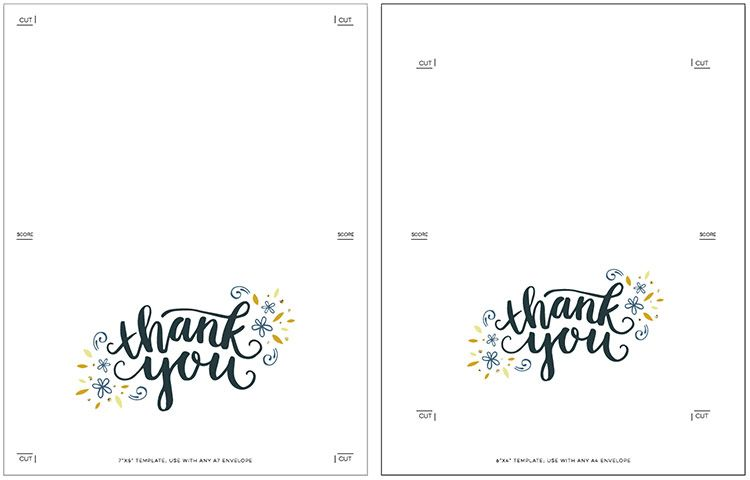 Freebie Printable Thank You Card Printable Thank You Cards Card Templates Printable Printable Note Cards
