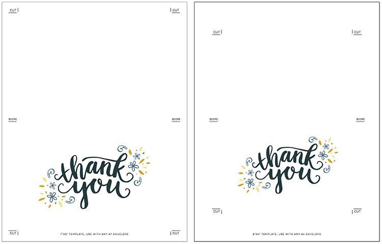 Freebie Printable Thank You Card Printable Thank You