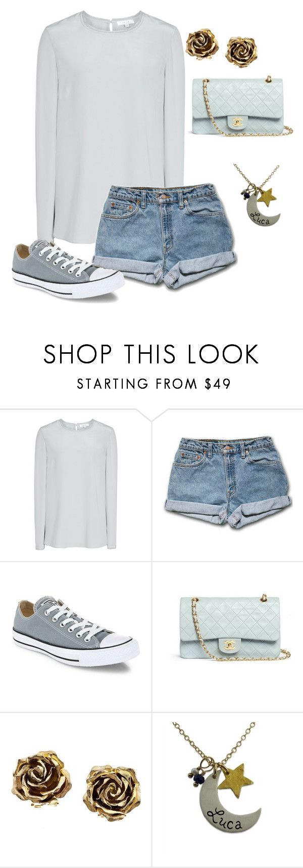 """Untitled #567"" by dauntless-darling ❤ liked on Polyvore featuring Converse, Chanel and Tiffany & Co."