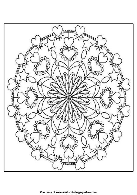 mandala coloring pages hearts coloring pages for adults