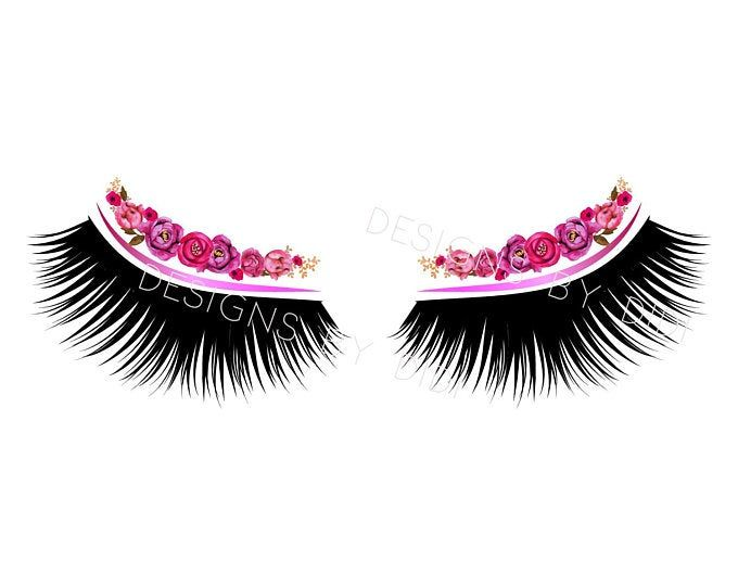 Photo of Instant Download, Lash Clipart, pink gold lashes clip art, instant download lashes clip art, lashes image, lash logo pink gold