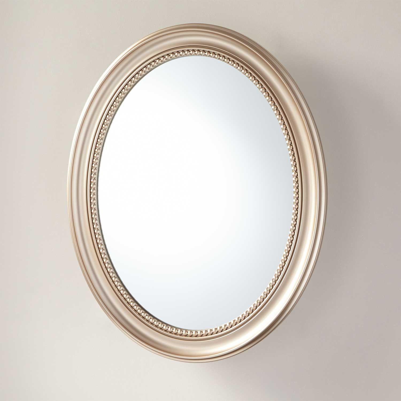 Camille Antique Oval Medicine Cabinet With Mirror Cabinets Bathroom