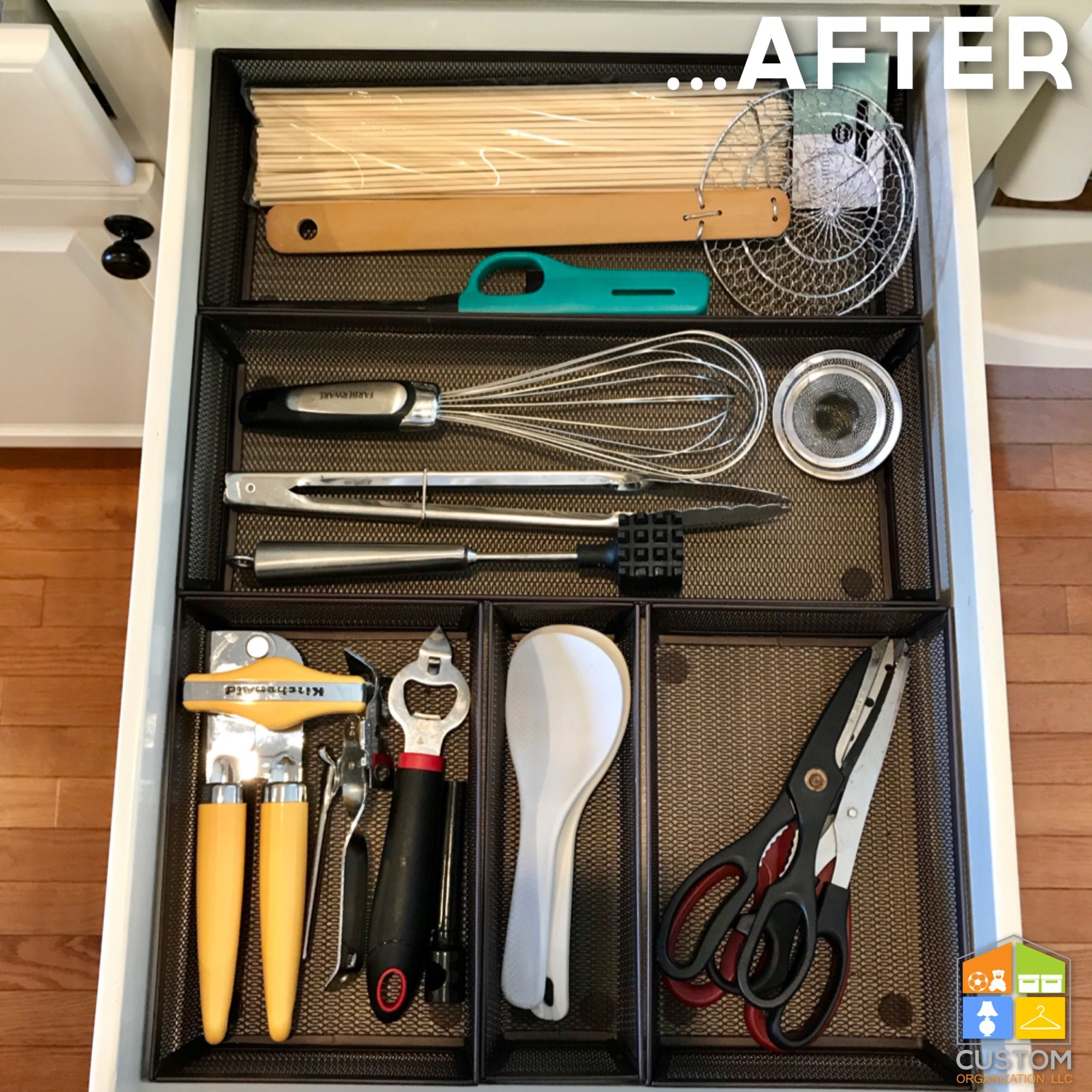 Kitchen drawer organization customorganizationllc kitchens