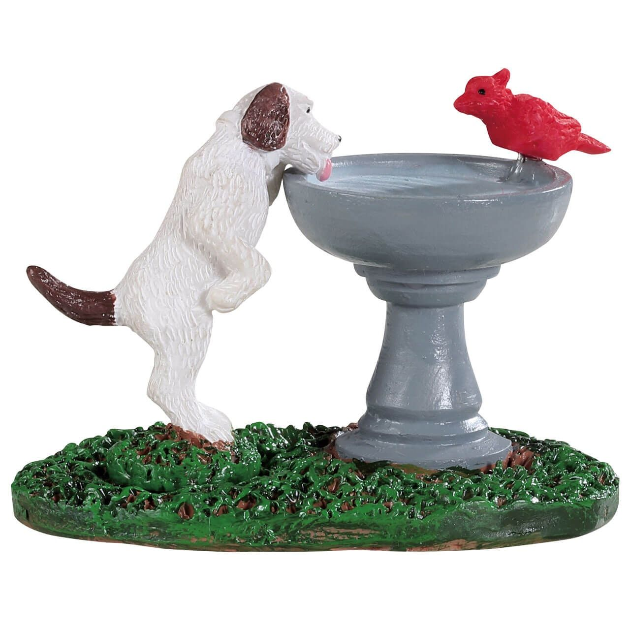Lemax Bird Bath Dog Fountain Sku 94535 Released In 2019 As An