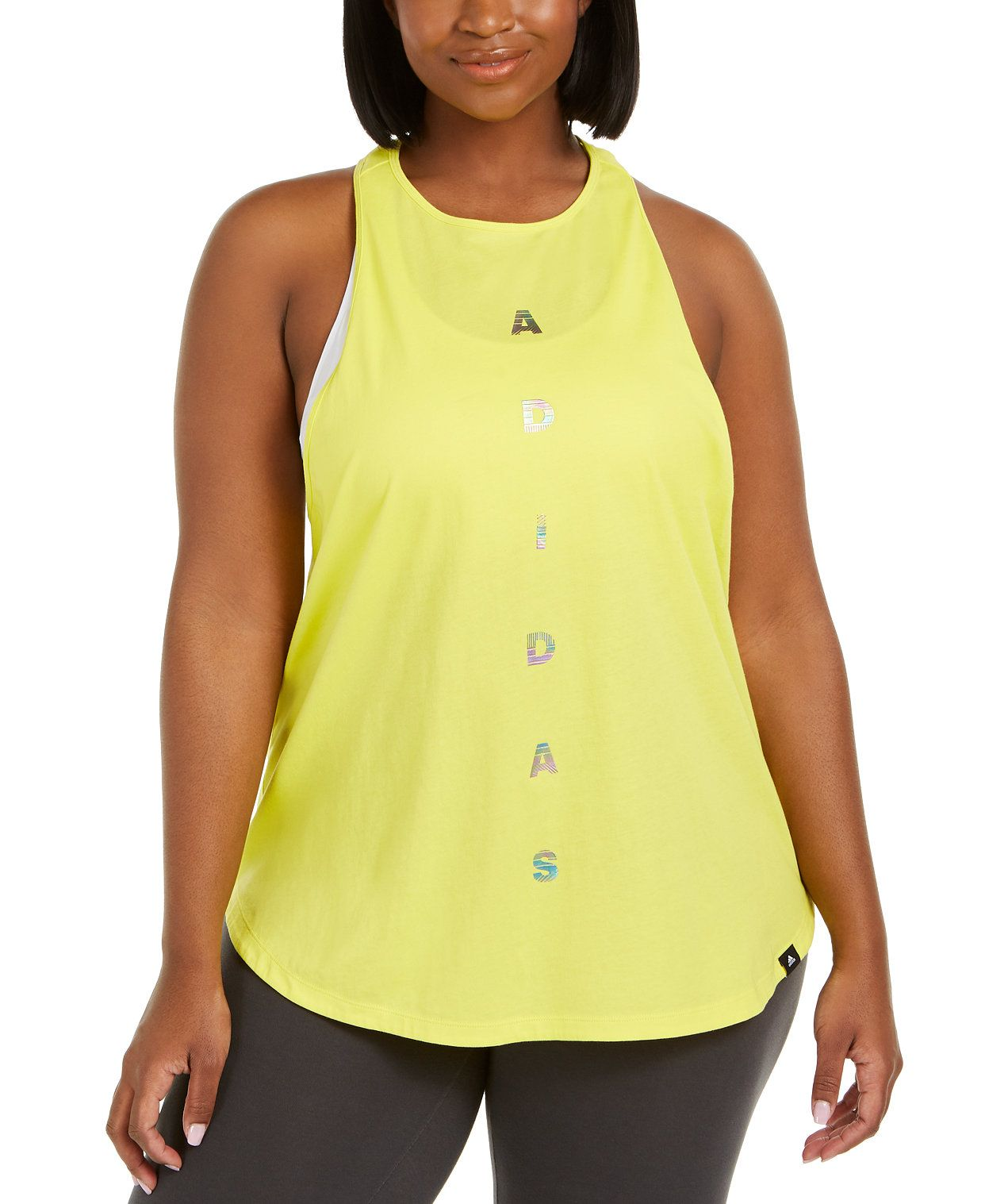 Photo of adidas Plus Size Metallic-Graphic Racerback Tank Top & Reviews – Tops – Plus Sizes – Macy's