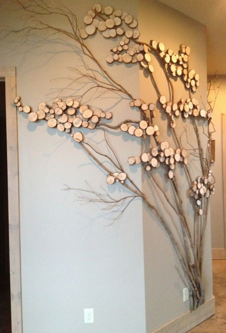 30 Stunning Diy Wall Art Ideas For Your Dream House Page 13 Of 32 Tree Branch Wall Decor Rustic Wall Art Diy Wall Art