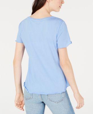 855bb5fe0 Disney Juniors' Lilo & Stitch Lettuce-Edged Graphic T-Shirt by Freeze 24